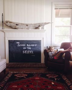 A great way to cover up a fireplace.