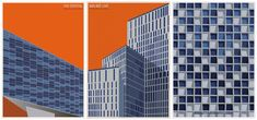 André Chiote cria ilustrações de obras icônicas de Schmidt Hammer Lassen para os 30 anos do escritório   ArchDaily Brasil
