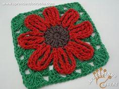 ▶ Flor de Croche Silvestre - Aprendendo Crochê - YouTube