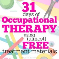 31 Days of Occupational Therapy with Free Materials