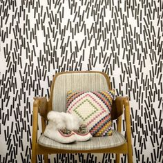 """Home sweet home"" is a collection of wallpapers by Swedish Åsa Dahlbäck."