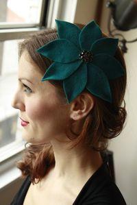Blue Flower Fascinator/ Cocktail hat
