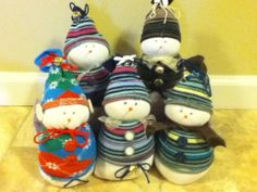 How to Make Sock Snowman   ... sock snowmen that will bring cheer to all your holiday gue