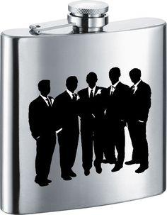 Visol Groom's Entourage Stainless Steel 6oz Hip Flask