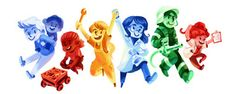 Google Doodle: April 28, 2016: Girls' and Boys' Day 2016 Google Coverage: Germany
