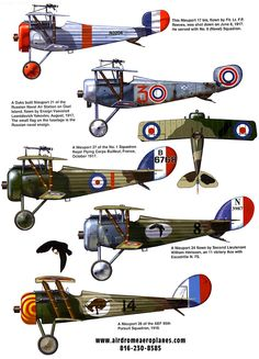 Airplanes of WW1