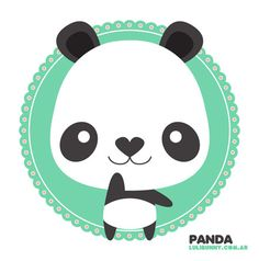 pretty panda would look adorable crocheted.