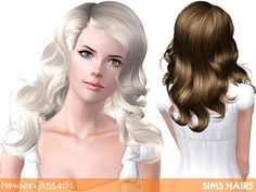 Newsea's J153 Born To Die AF hairstyle retextured by Sims Hairs for Sims 3 - Sims Hairs - http://simshairs.com/downloads-sims3-sims4/newseas-j153-born-to-die-af-hairstyle-retextured-by-sims-hairs/
