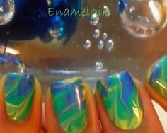 A cleaner way to water marble nails...without the water