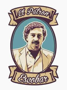 'Pablo Escobar - El Patron' T-Shirt by romeotees Pablo Emilio Escobar, Dope Cartoon Art, Dope Cartoons, Narcos Escobar, Pablo Escobar Quotes, Mafia Gangster, Its A Mans World, Iphone Wallpaper, Pop Art
