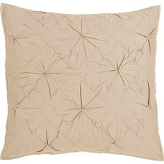 Aubree Taupe Quilted Euro Sham 26x26""