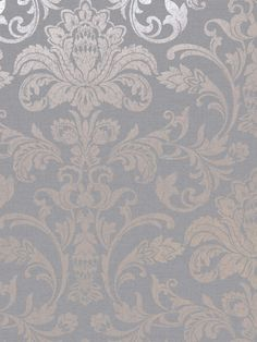 This stylish Glistening Damask wallpaper will make a great statement in your home. The design features a classic damask pattern in soft metallic rose gold with a distressed vintage effect. This is set on a matte mid grey background that has a hessian-like fabric effect pattern and a smooth finish. Easy to apply, this high quality wallpaper would look great as a feature wall or equally good when used to decorate a whole room. Damask Wallpaper, High Quality Wallpapers, Gray Background, Looks Great, Rose Gold, Tapestry, Colours, Grey, Fabric