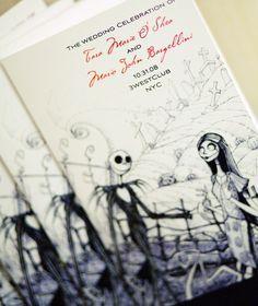 Nightmare Before Christmas wedding invitations.     Repin by Inweddingdress.com    #weddinginvitation