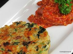 Crispy quinoa cakes from Vegetarian Times.