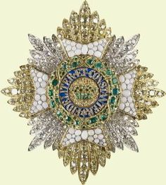 Star of the Saxe-Ernestine Order; Commissioned for Prince Albert, c. 1840. Probably the order for those of the House of Saxe-Coburg-Gotha.