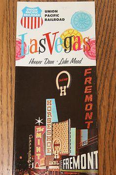 Vintage 1960s Union Pacific Las Vegas Travel Brochure Casino Pics Map | eBay