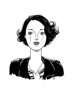 Fleabag   Phoebe Waller-Bridge portrait illustration by Denise Tolentino for Inktober 2019 Tags: badass woman, emmy winner, strong woman, female roles, female writer, best series, female stories Woman Illustration, Portrait Illustration, Alphys And Undyne, Phoebe Waller Bridge, Jack White, Ragnar, Badass Women, Best Series, Fantasy Characters