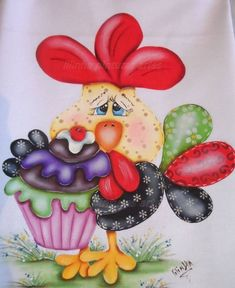 Super country quilting to make fabrics Ideas Chicken Crafts, Chicken Art, Tole Painting, Fabric Painting, Pinterest Pinturas, Chicken Quilt, Country Quilts, Chickens And Roosters, Country Paintings