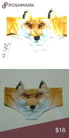 Fox Panty w/ Ears Fox Panty w/ Ears on Back Polyester & Spandex Great to wear over your panties cute & added privacy. Zohra  Intimates & Sleepwear Panties