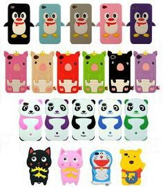 Cute colorful animal phone cases