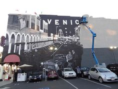 Venice Beach mural--work in progress. At Windward Avenue & Speedway.