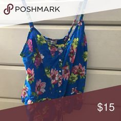 Selling this A&F floral tank top size S $15 on Poshmark! My username is: alexuscordova. #shopmycloset #poshmark #fashion #shopping #style #forsale #Abercrombie & Fitch #Tops