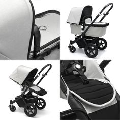 "We're super excited to announce the release of the Bugaboo Atelier Collection limited edition Cameleon³ & Buffalo Strollers! Sleek lines and a contrasting colour palette showcase a bold silhouette featuring stone mélange fabric and black leather-look trim. Pre-order yours today to receive a FREE Bugaboo Cup Holder and FREE Shipping Australia-Wide! Visit Baby Village instore or search ""Atelier"" online [link in bio]. _ #bugaboo #bugaboocameleon3 #bugaboobuffalo #pram #stroller #babystroller…"