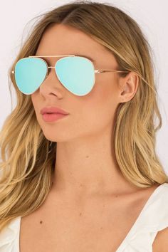 "Search ""Oceans Away Blue Mirrored Aviators"" on Tobi.com! gold frame mirror sunnies sunglasses glasses frames #ShopTobi #fashion #summer #spring #vacation Basic outfit simple easy chic fashionable stylish style fashion vacation travel essential capsule wardrobe must have casual comfy comfortable trendy spring summer shop buy cheap inexpensive ideas for women teens cute edgy closet fall college outfit outfits"