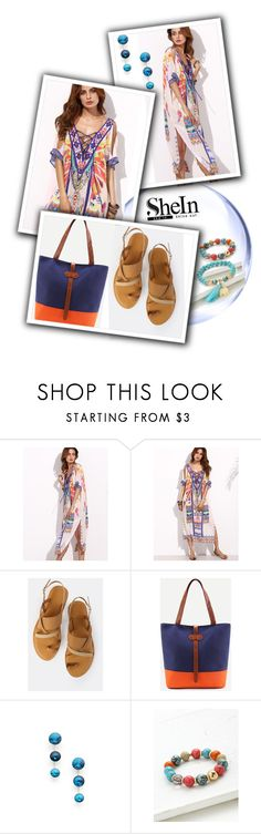 """Tribal Print Kaftan Dress"" by vilmamartini ❤ liked on Polyvore"
