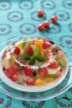 Jello Recipes, Sweets Recipes, Easy Asian Recipes, Thai Recipes, Jelly Cake, Asian Desserts, Jello With Fruit, Jelly Fruit, Healthy Fruits