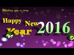 Happy New Year 2016 Video Greeting Animated 3D Cards ! Ecards !