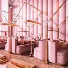 Pink decor The Effective Pictures We Offer You About Office Architecture home . Pink decor The Effective Pictures We Offer You About Office Architecture home A quality picture Restaurant Interior Design, Commercial Interior Design, Commercial Interiors, Modern Interior Design, Interior Architecture, Concept Design Interior, Bohemian Interior, Contemporary Interior, Pink Restaurant