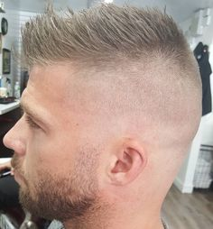 Mens Hairstyles With Beard, Undercut Hairstyles, Hair And Beard Styles, Hairstyles Haircuts, Haircuts For Men, Psychobilly Hair, Short Hair Cuts, Short Hair Styles, Boys Haircut Styles