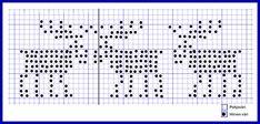 Lankapirtti: Taas hirvet törmäilevät Crochet Chart, Filet Crochet, Knit Crochet, Knitting Charts, Free Knitting, Hexagon Quilt Pattern, Swedish Weaving, Knitting Patterns, Cross Stitch
