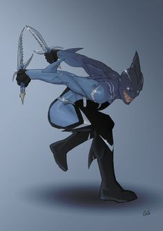 Sharkman new design with his new daggers. The daggers were forged from blue orichalcum. Blue handle, bladed hilt, tipped with a Great White tooth. Blade is serrated on one side to mimic the jaw of ...