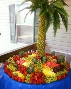60 Best Ideas For Fruit Decoration Ideas Food Displays Pineapple Palm Tree Palm Tree Fruit, Pineapple Palm Tree, Pineapple Fruit, Fruit Trees, Palm Trees, Fruit Display Tables, Fruit Displays, Best Fruit Salad, New Fruit