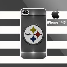 Pittsburgh Steelers Texture Sand Light iphone 4 4s Rubber Case Cover