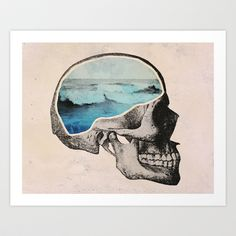 Brain Waves Art Print by Chase Kunz - $17.00 http://society6.com/product/Brain-Waves-8XX_Print?tag=graphic-design