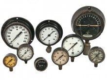 vintage gauges, industrial gauges, shabby chic, steampunk decor, mancave decor