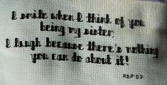 sister quotes and sayings | Crafts N Cross Stitch » Quotes and Sayings