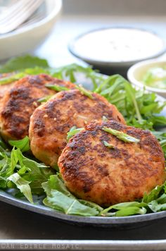 Hoisin Salmon Burgers with Sweet and Spicy Ginger Mayo Recipe #paleo