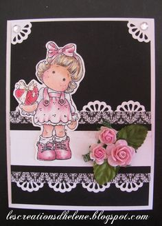 Scrapbook ta vie: Scrapcouleur de févier Tag Craft, Magnolias, Minnie Mouse, Disney Characters, Fictional Characters, Stamp, Scrapbook, Girls, Projects