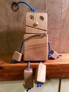 Handmade Wooden Robot