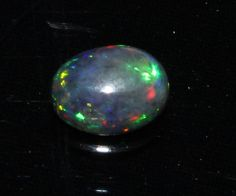 0.82 Crts Natural  Ethopion Welo Fire Opal Black Cabochon 5093