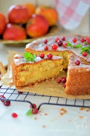 Quick cake with apples. (in Polish) Cake Recipes, Snack Recipes, Dessert Recipes, Snacks, Quick Cake, Different Cakes, Cake Board, Wonderful Recipe, Food Cakes