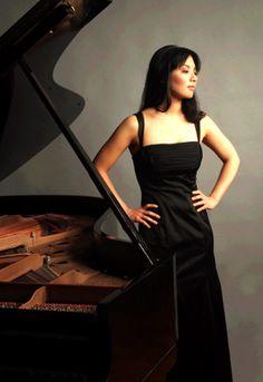Lovely pianist portrait