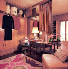 The dressing room of Greta Garbo's midtown apartment where she lived from 1953 until her death in 1990.