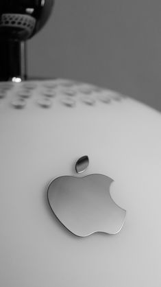 Download Clean Slate Metallic Apple Logo iPhone 5 Wallpaper