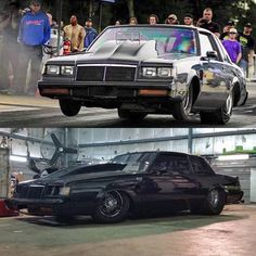 "Got Power - Cool shots of insane Grand National ""The Lumberjack"" hooking up and reaching for the sky, one bad ass drag weapon! Buick Grand National, National Car, Pontiac Gto, Chevrolet Camaro, Donk Cars, Street Outlaws, 1966 Chevelle, Custom Muscle Cars, Cadillac Fleetwood"