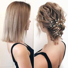 10 Increibles ideas de peinados para cabello corto Risos & Risos: 10 Incredible hairstyle ideas for short hair … Related posts:Just a few curls on top- make it fast and nice and easy!Braided hairstyle for long New Best Short Haircuts for Women Curly Hair Styles, Short Hair Updo, Short Wedding Hair, Short Hair Cuts, Medium Hair Styles, Wedding Hairstyles For Short Hair, Short Prom Hair, Bridal Hairstyles, Curled Hair Updo